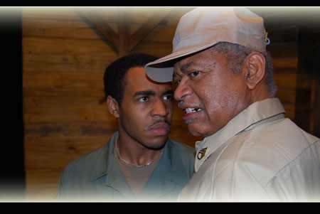 Darryl Lutcher as PFC Peterson & Harold X Evans as Sgt. Water in A Solder's Play