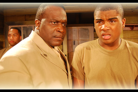 Anthony Bean as Capt Davenport & Edward Buckles as Private Smalls