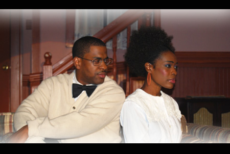 Rusty L. Cormier as George & Nicole James Francois as Benita in A Raisin in the Sun