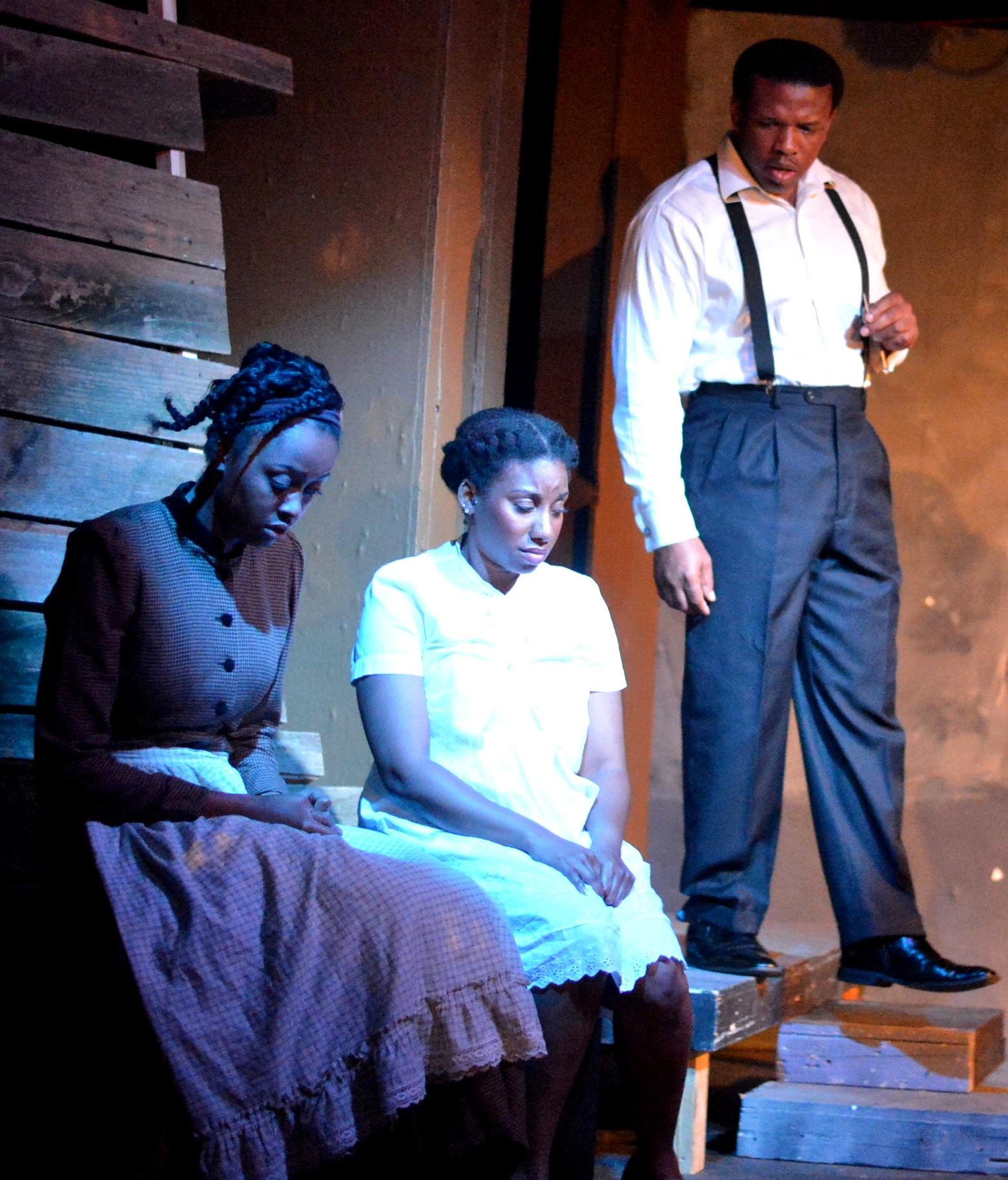 Asia Nelson, Giselle Nakhid and Damien A. Moses as Mister