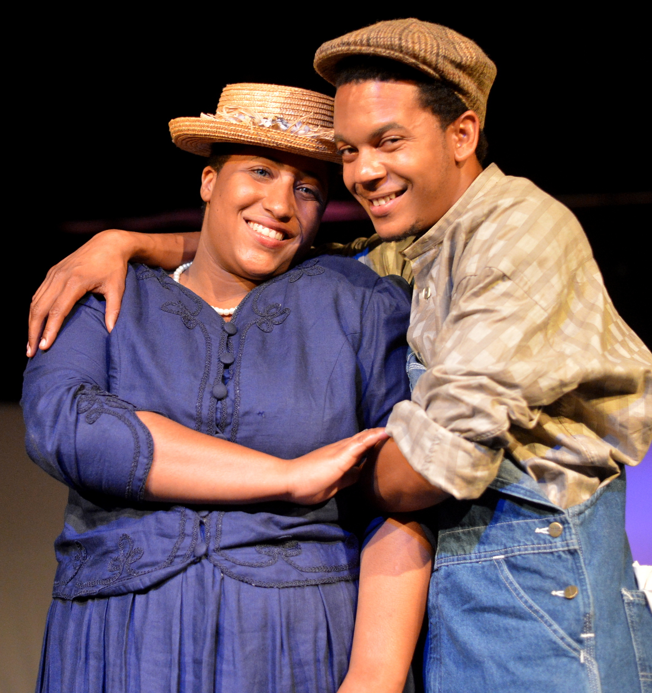 Jade Hillery as Sofia and DC PauL as Harpo in The Color Purple