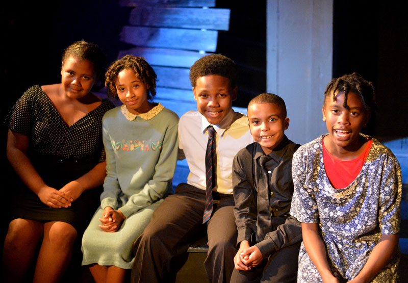 The kids in The Color Purple